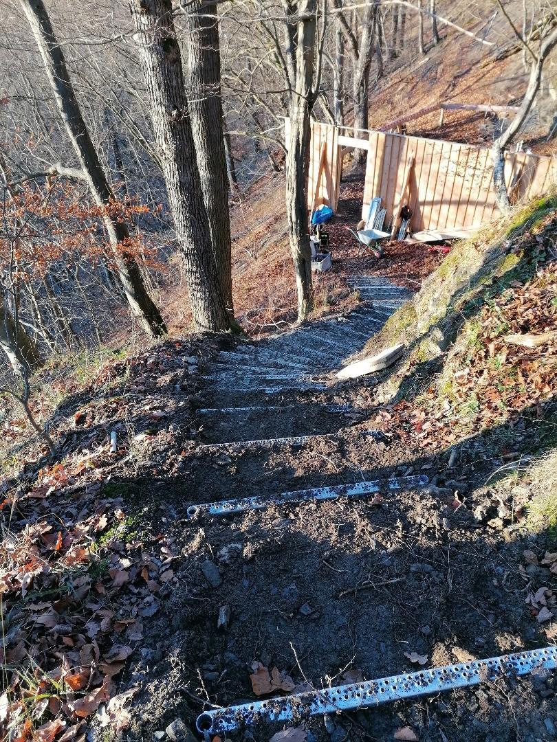 Alpineisen-Baustelle am Wilhelmsblick
