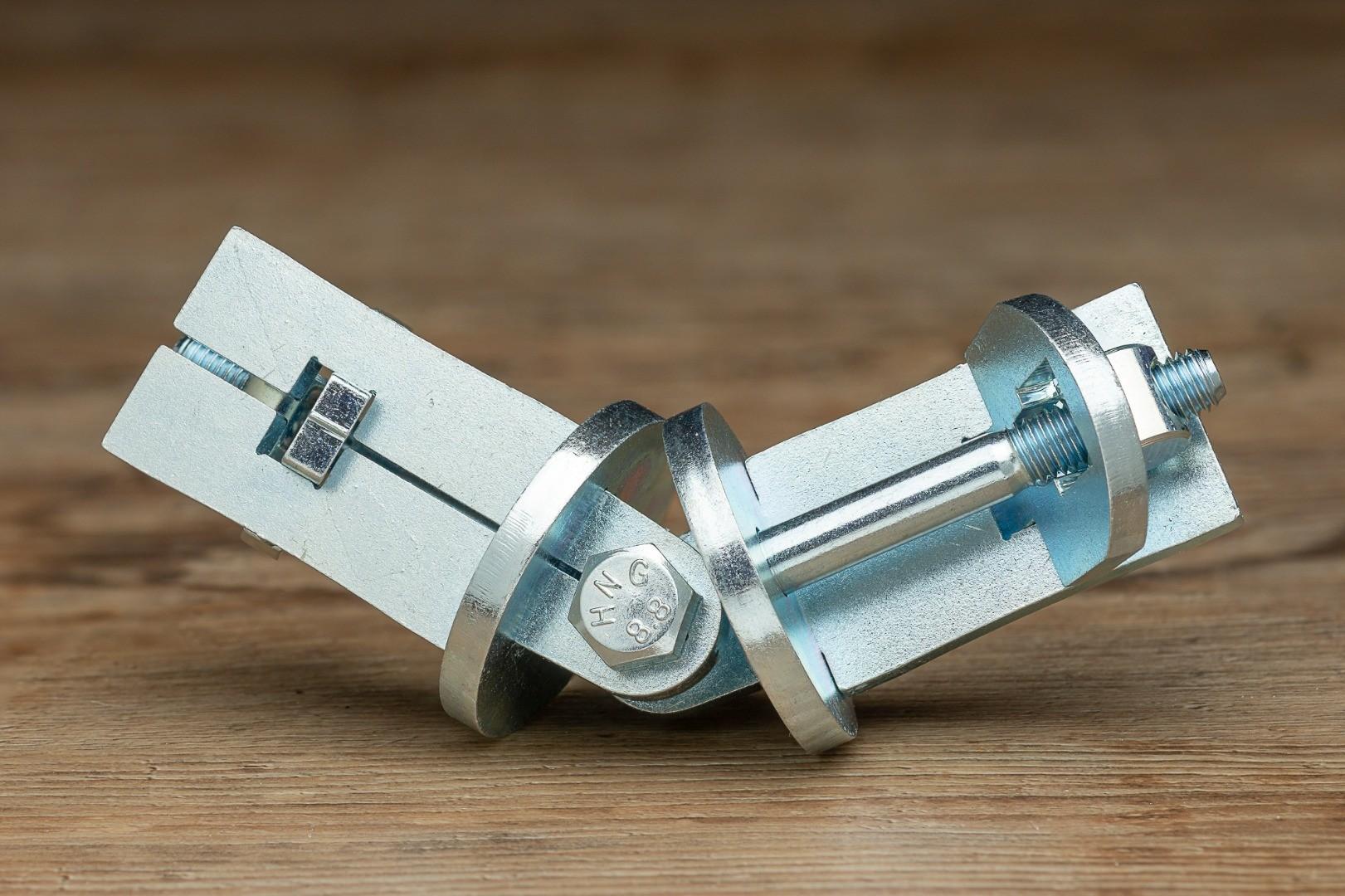 Winkelverbinder zwischen Handlauf-Rohren EDELWEISS